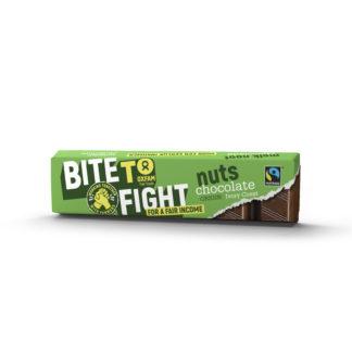 Belgian milk chocolate with Brazil nuts (Oxfam Fair Trade) on Rosette Fair Trade