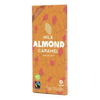 Belgian milk chocolate with caramel almonds (100g) on Rosette Fair Trade online store