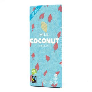Belgian milk chocolate with coconut (100g) on Rosette Fair Trade online store