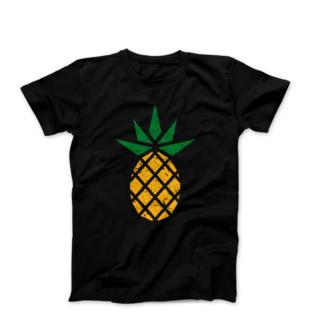 Black fair trade pineapple t-shirt