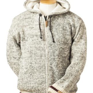 Fair trade hooded jacket (Cabin) by Ark Imports in grey colour on Rosette Fair Trade