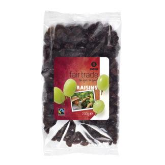Fair trade raisins (dried grapes) from Oxfam Fairtrade on the Rosette Fair Trade online store