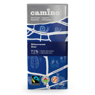 Fairtrade bittersweet chocolate bar (71%) by Camino available on Rosette Fair Trade's online store
