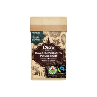 Fairtrade black pepper by Cha's Organics available at Rosette Fair Trade's online store