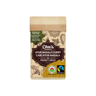 Fairtrade curry powder spice (Ayur Masala) by Cha's Organics available on Rosette Fair Trade's online store