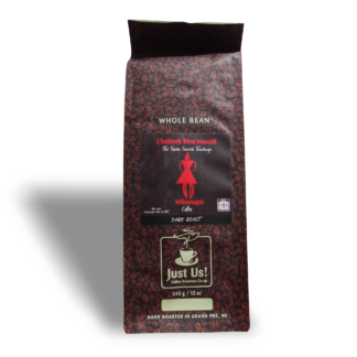 Fairtrade dark roast coffee by Just Us Coffee available on Rosette Fair Trade online store