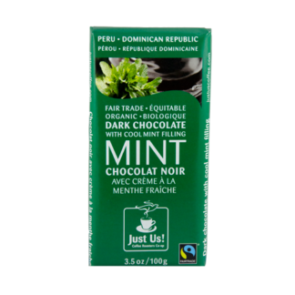 Fairtrade mint filled dark chocolate by Just Us Coffee available on Rosette Fair Trade online store