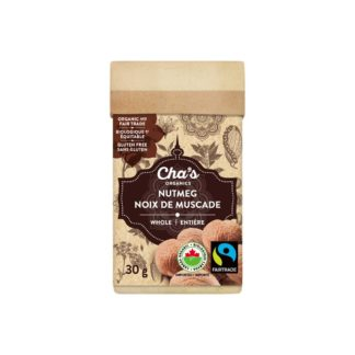 Fairtrade nutmeg (whole) by Cha's Organics available on Rosette Fair Trade's online store