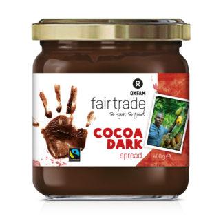 Oxfam Fair Trade dark chocolate sandwich spread on Rosette Fair Trade
