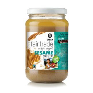 Oxfam Fair Trade tahini (sesame seed paste) on Rosette Fair Trade
