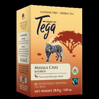 Tega Organic Teas Masala Chai Rooibos fair trade organic tea on Rosette Network