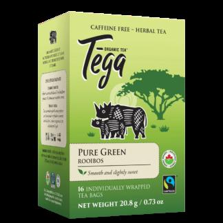 Tega Organic Teas pure green rooibos fair trade organic tea on Rosette Network