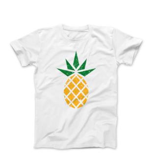 White fair trade pineapple t-shirt