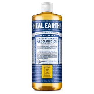 Dr Bronner's Peppermint liquid castille soap (fair trade, organic) on the Rosette Network