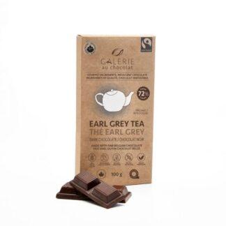 Fair trade Earl Grey dark chocolate by Galerie au Chocolat on the Rosette Network