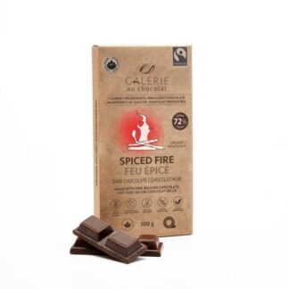 Fair trade Spiced Fire dark chocolate by Galerie au Chocolat on the Rosette Network