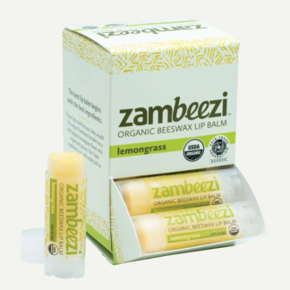 Lemongrass lip balm by Zambeezi (fair trade, natural) on the Rosette Network