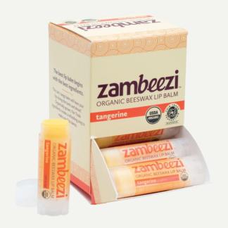 Organic tangerine lip balm by Zambeezi (all natural) on Rosette Fair Trade