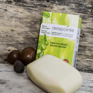 Unscented shea soap (with shea butter) by Karité Delapointe on Rosette Fair Trade